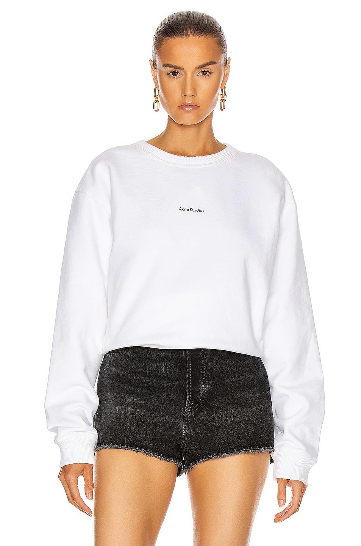 Image 1 of Acne Studios Fierre Sweatshirt in Optic White