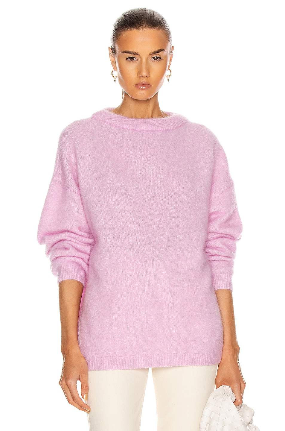 Image 1 of Acne Studios Dramatic Mohair Sweater in Bubblegum Pink