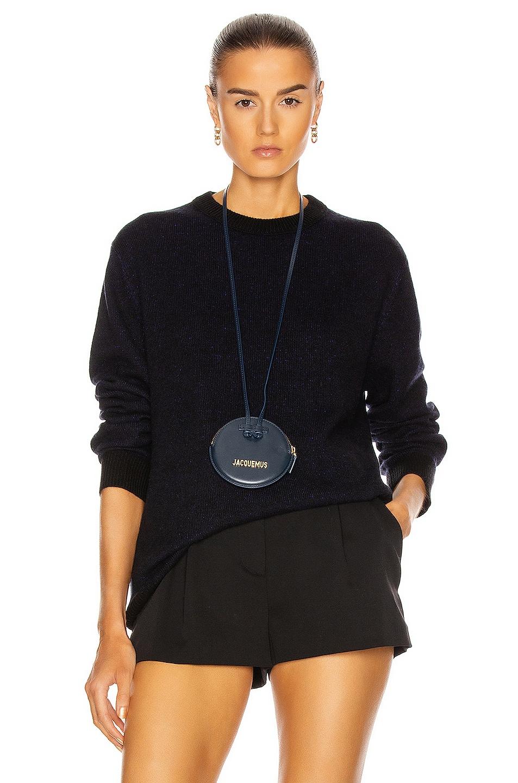 Image 1 of Acne Studios Kassio Cashmere Sweater in Black & Purple