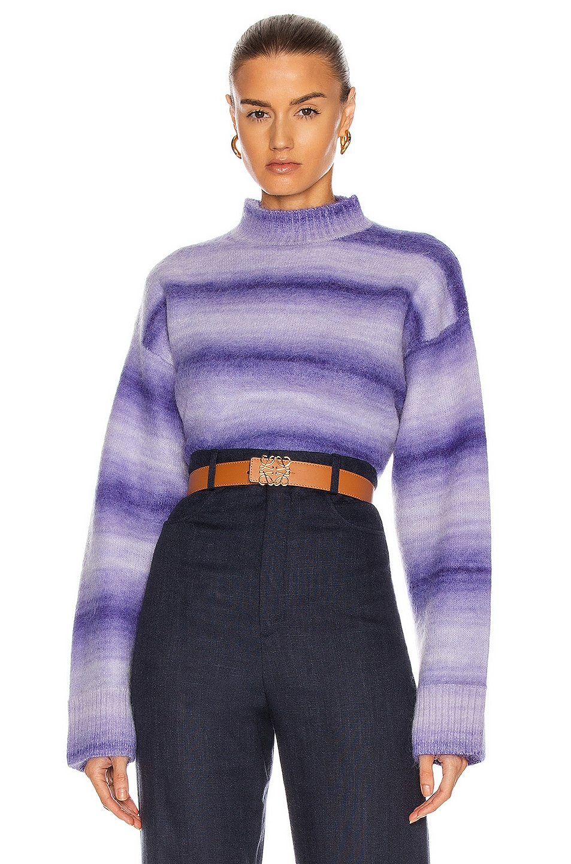 Image 1 of Acne Studios Kesme Sweater in Electric Purple
