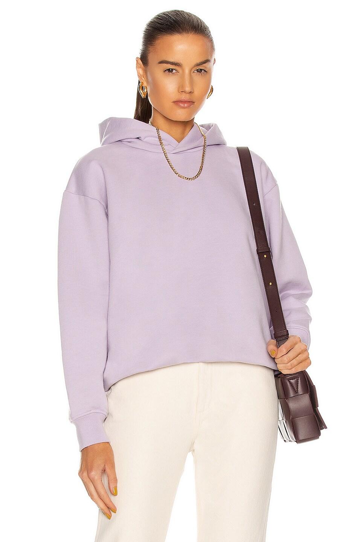 Image 1 of Acne Studios Logo Hoodie in Lavender Purple