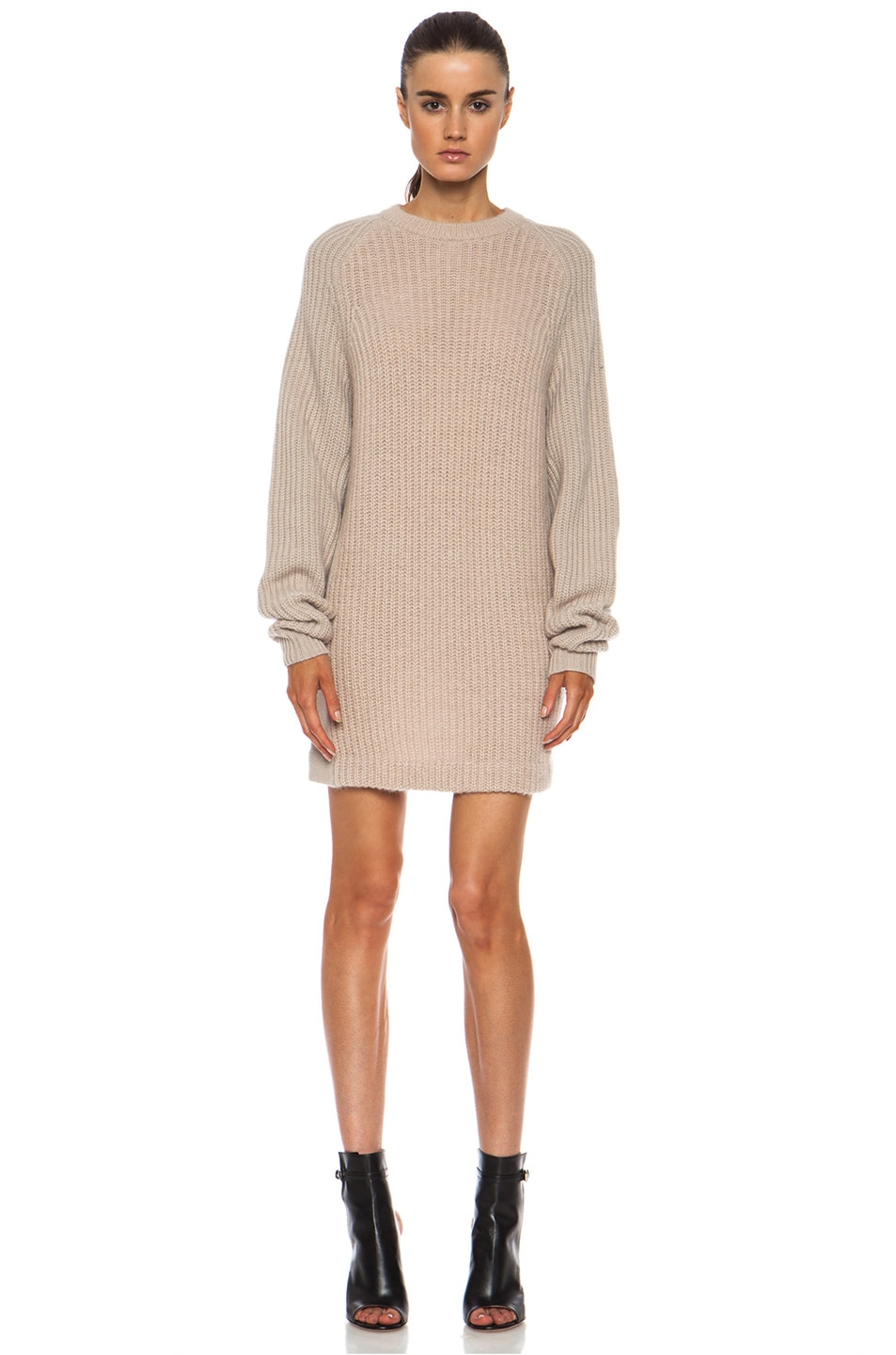 Image 1 of Acne Studios Davina Mix Mohair-Blend Sweater in Beige