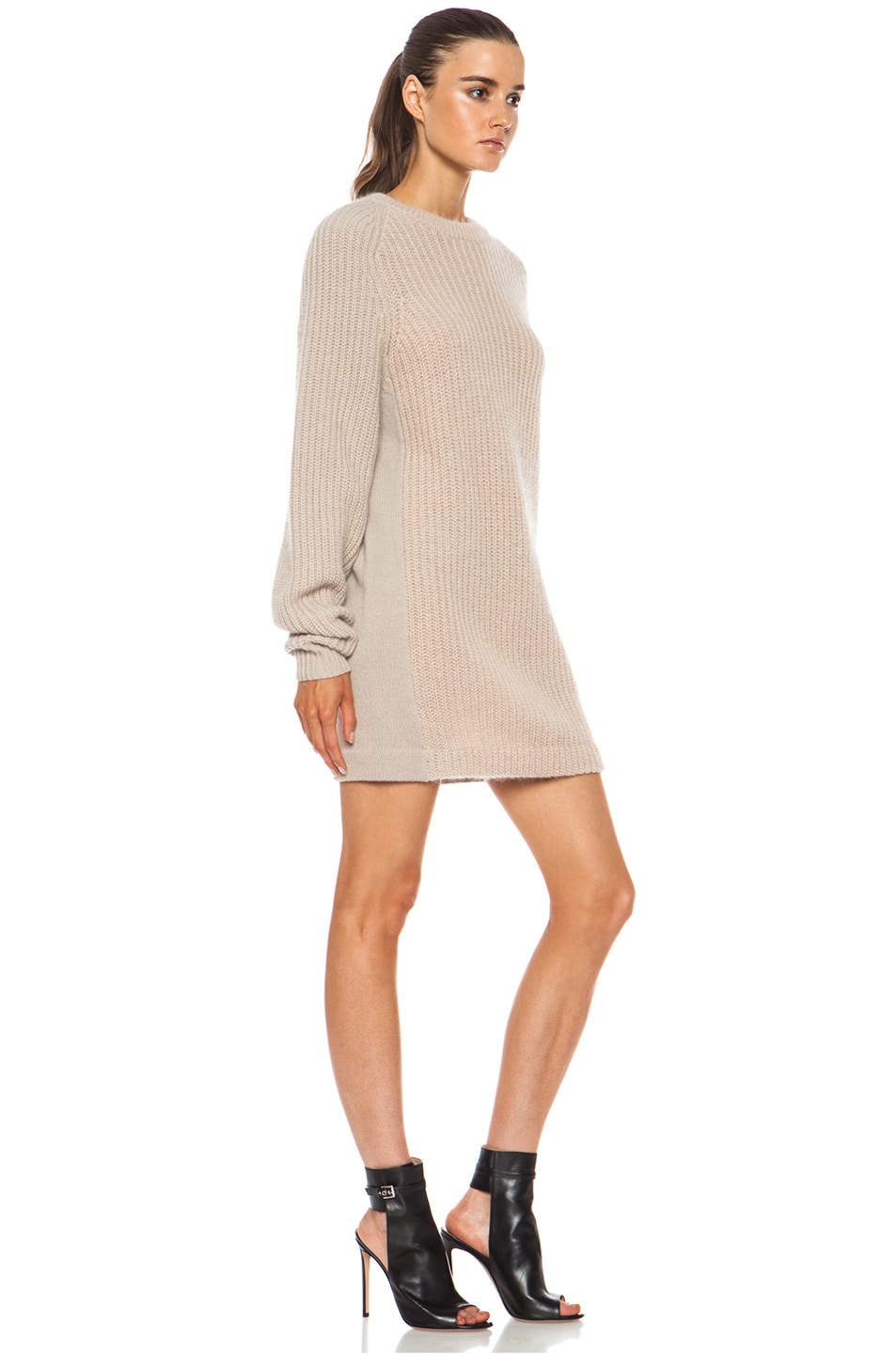 Image 3 of Acne Studios Davina Mix Mohair-Blend Sweater in Beige