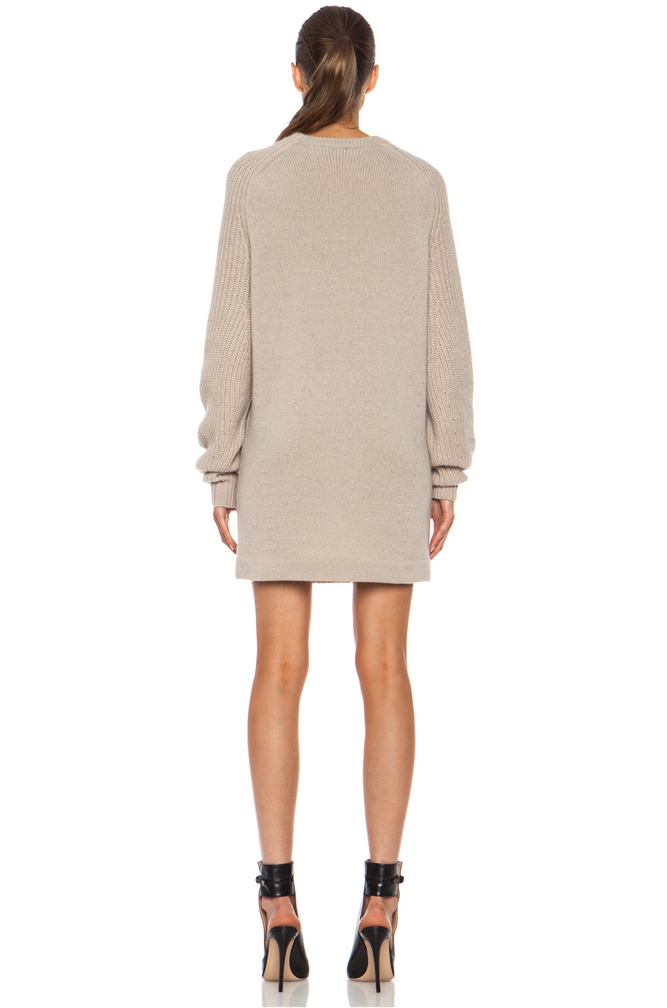 Image 4 of Acne Studios Davina Mix Mohair-Blend Sweater in Beige