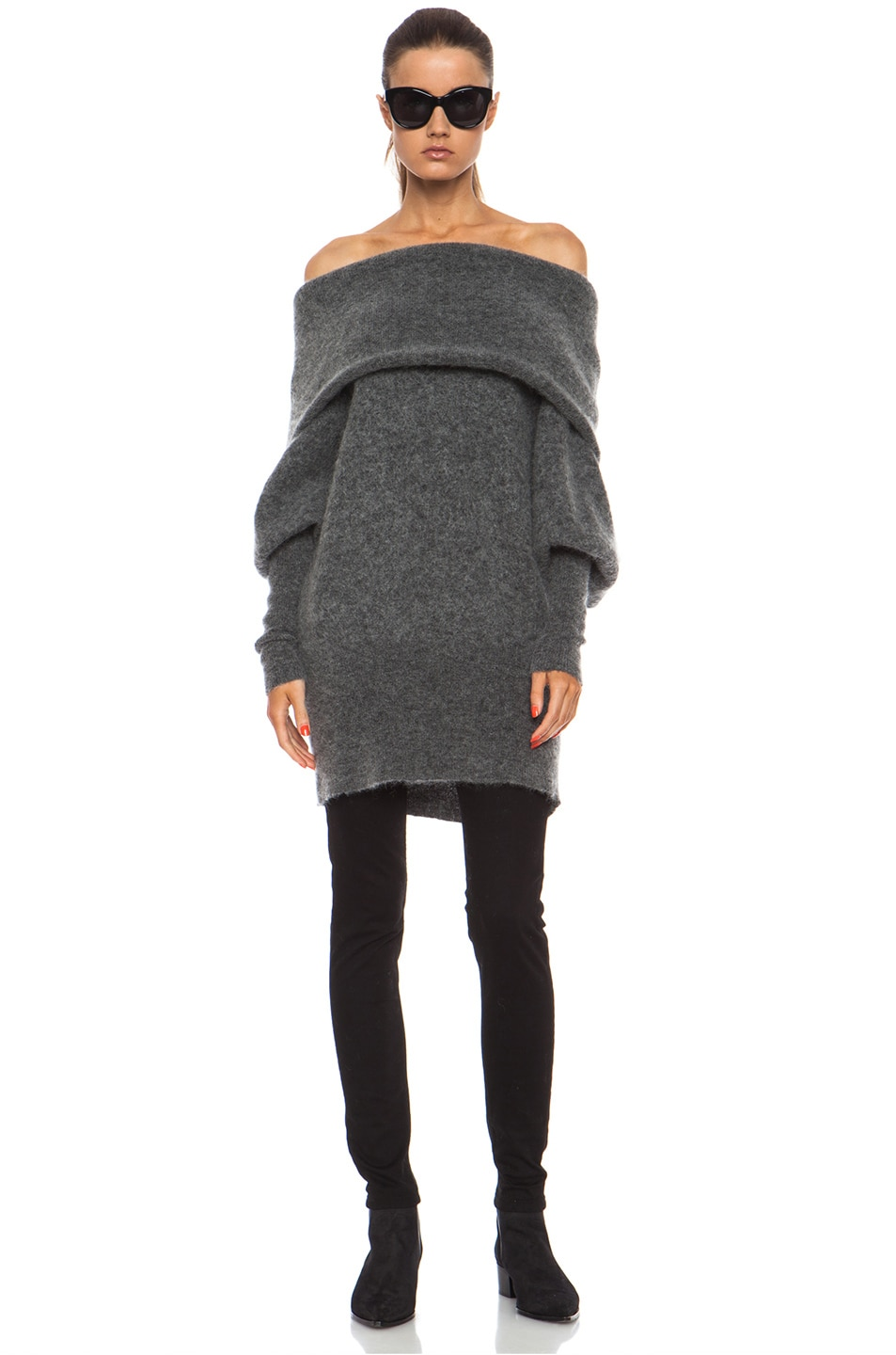 e1a3df499c47 Image 1 of Acne Studios Daze Mohair Sweater in Grey Melange