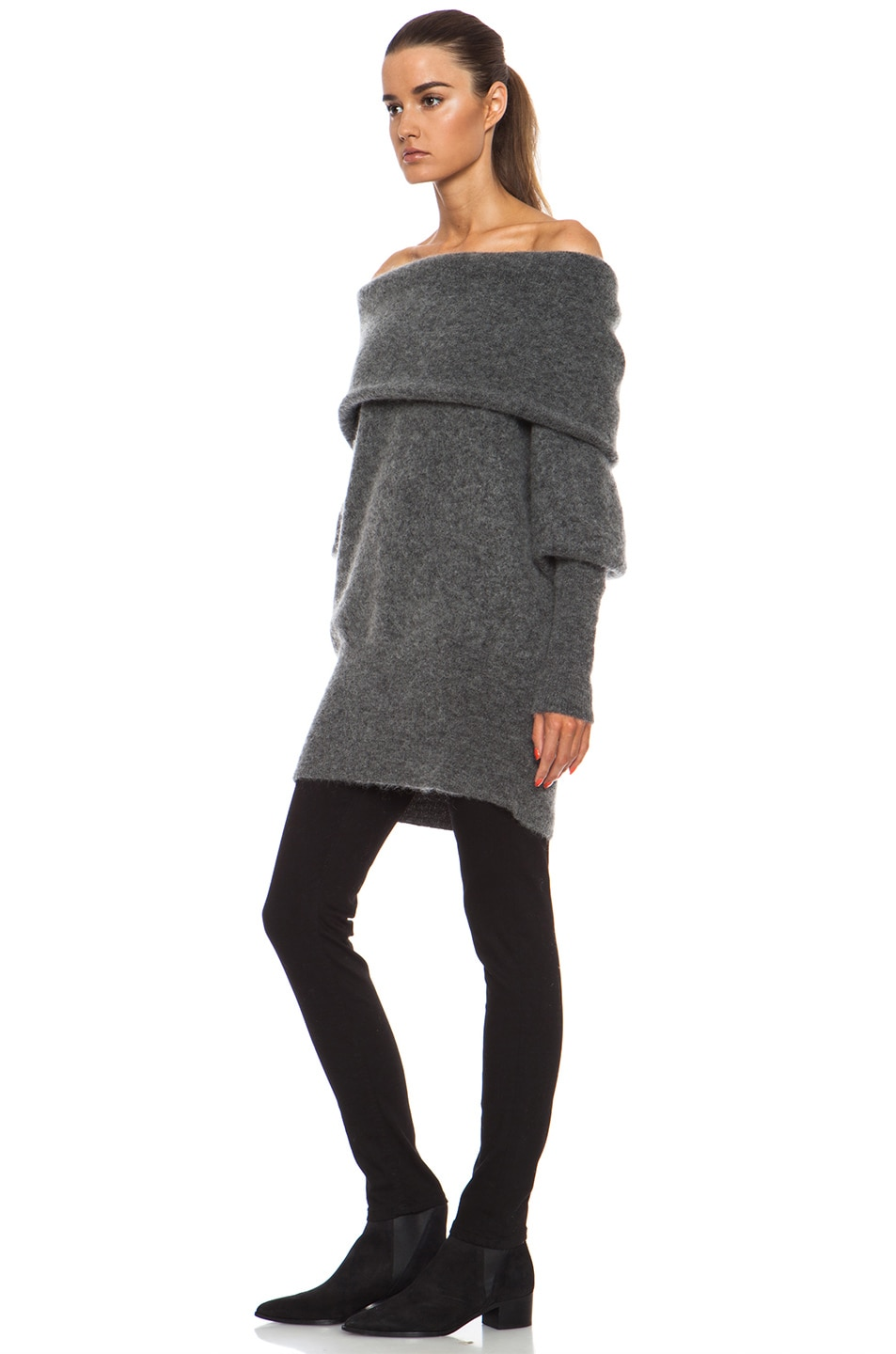 28b4b82220a9 Image 2 of Acne Studios Daze Mohair Sweater in Grey Melange