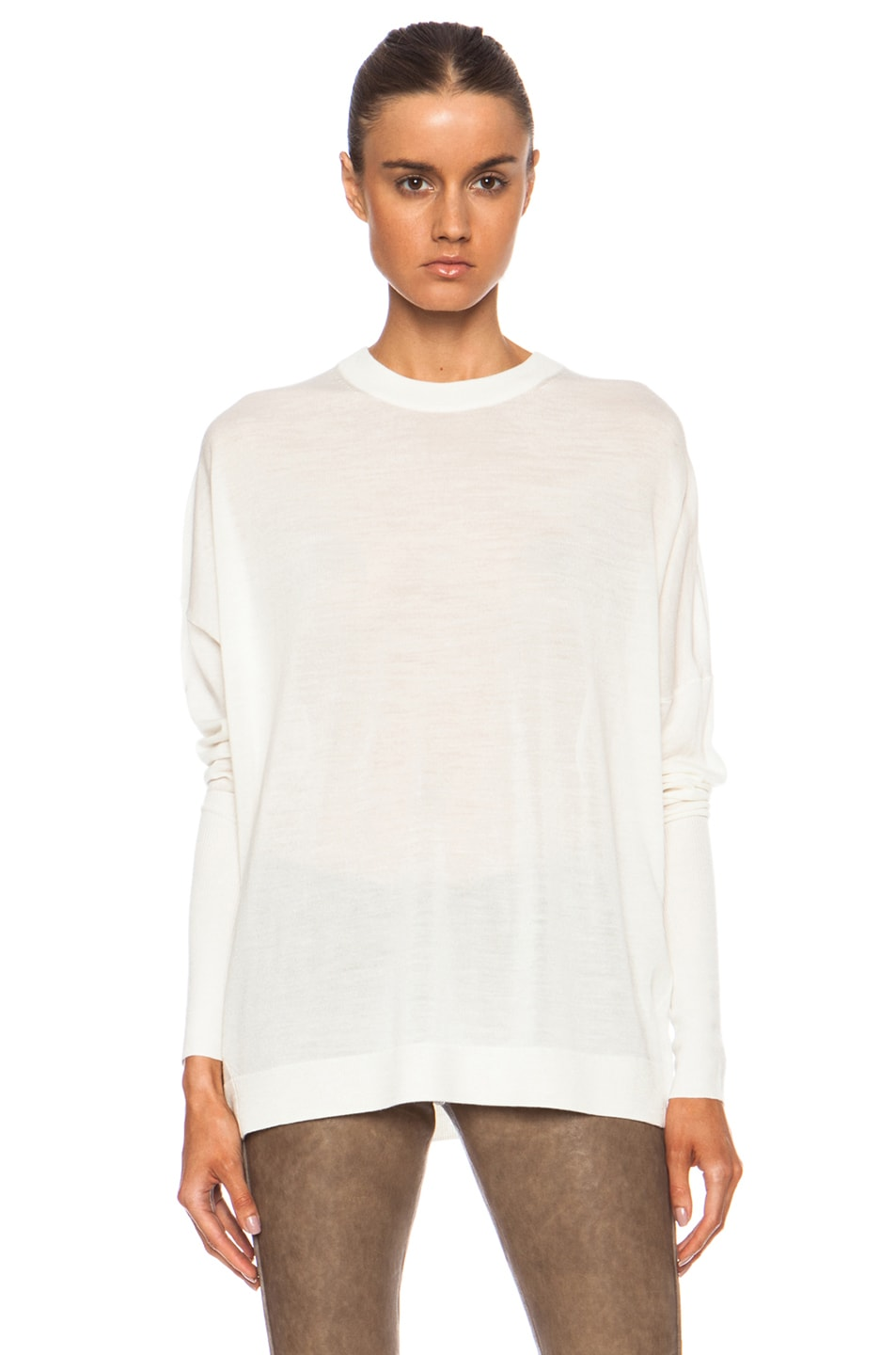 Image 1 of Acne Studios Delight Wool Sweater in Off White