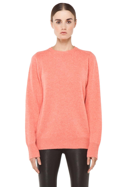 Image 1 of Acne Studios Flippa Cash Sweater in Coral Melange