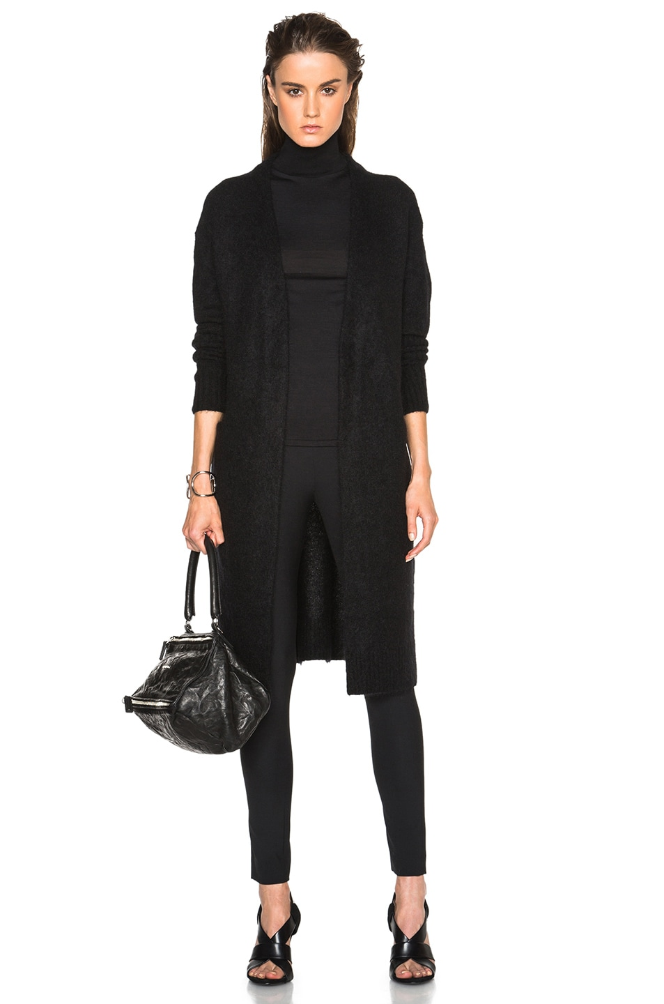 Image 1 of Acne Studios Raya Mohair Cardigan in Black