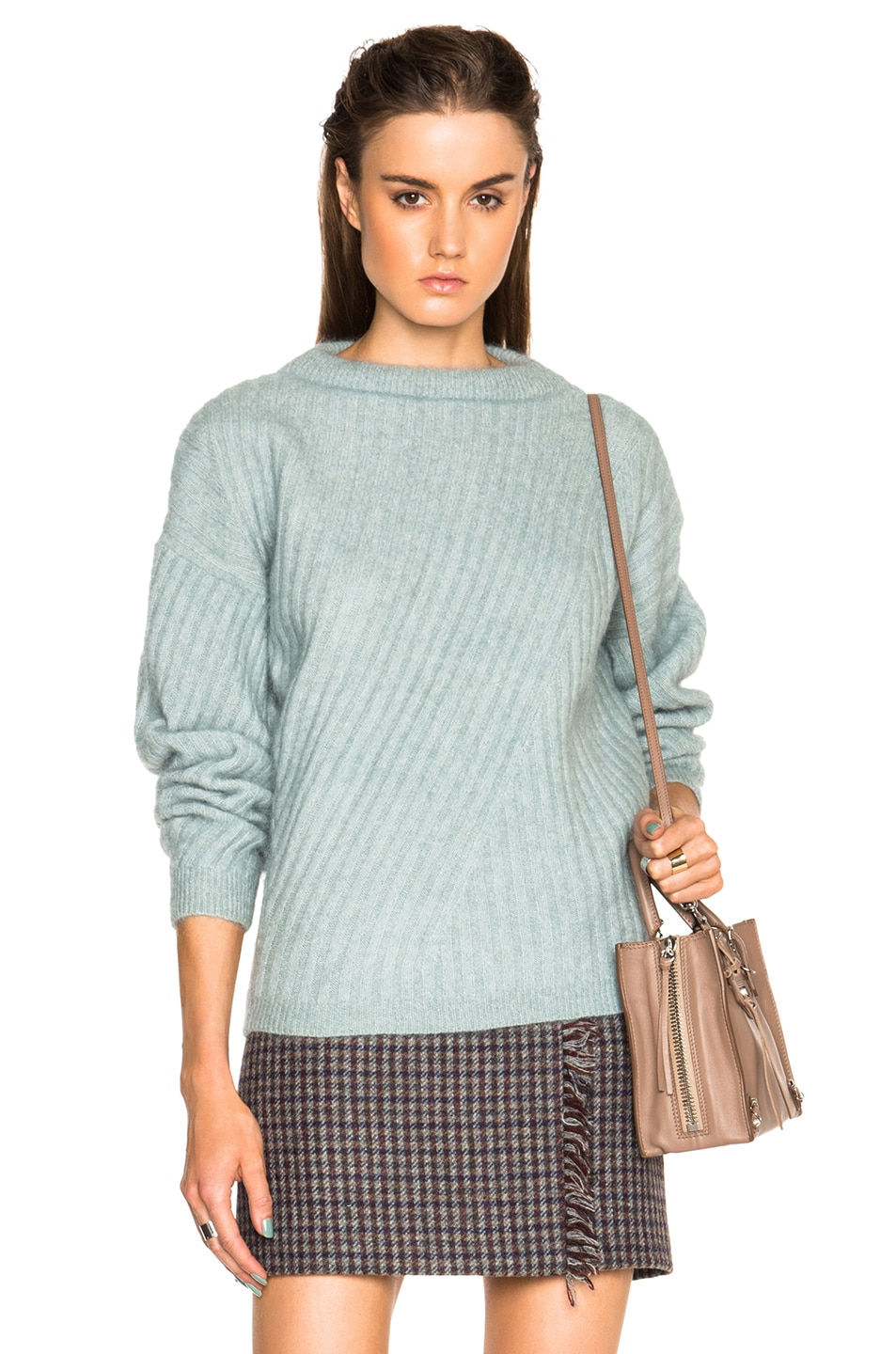 12860485ed671 Image 1 of Acne Studios Virdis Mohair Sweater in Dull Jade Green