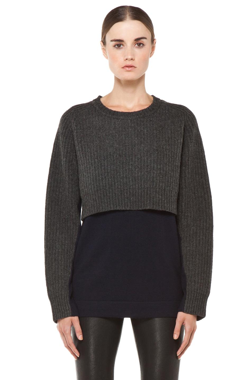 Image 1 of Acne Studios Hurst Knit Sweater in Grey Melange