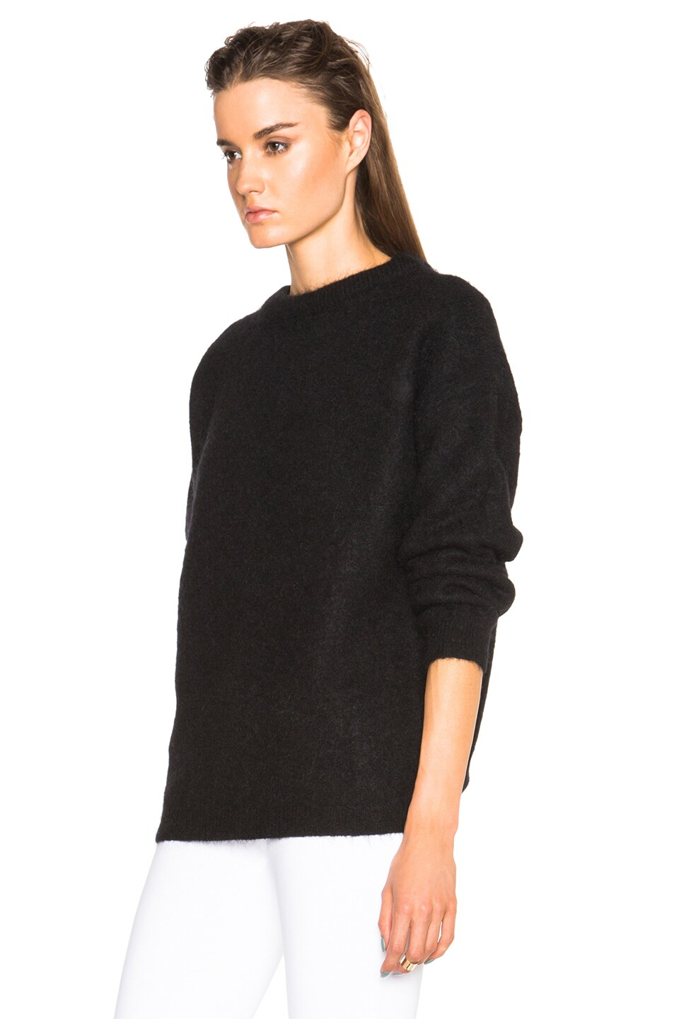 Image 2 of Acne Studios Dramatic Mohair Sweater in Black