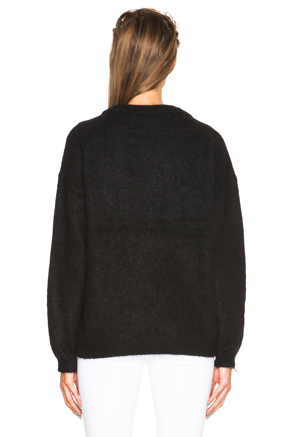 Image 4 of Acne Studios Dramatic Mohair Sweater in Black