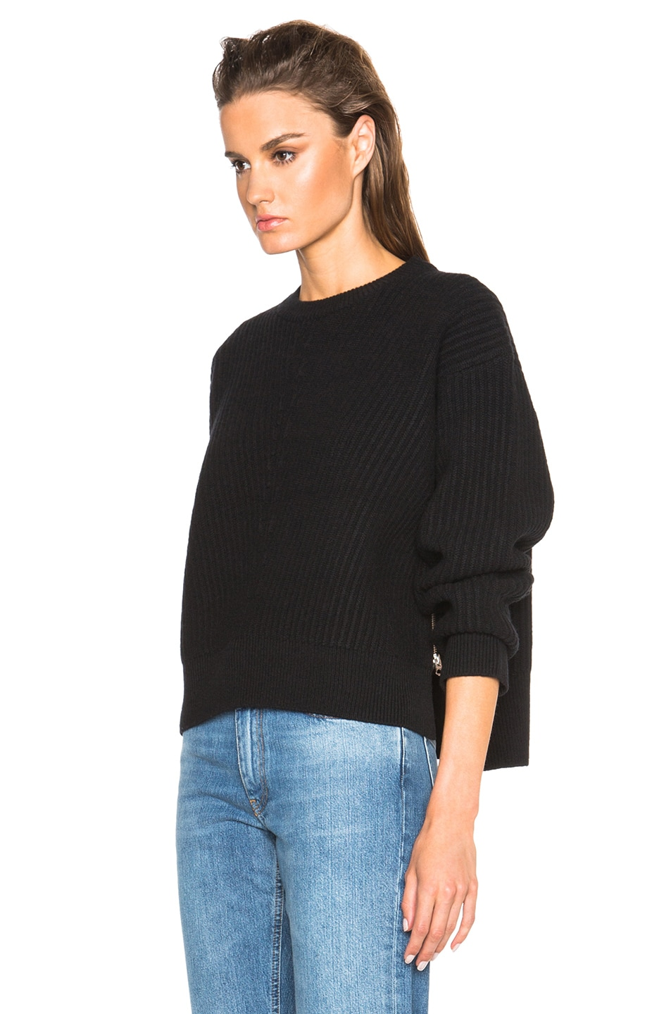 Acne Studios Java Rib Sweater in Black | FWRD