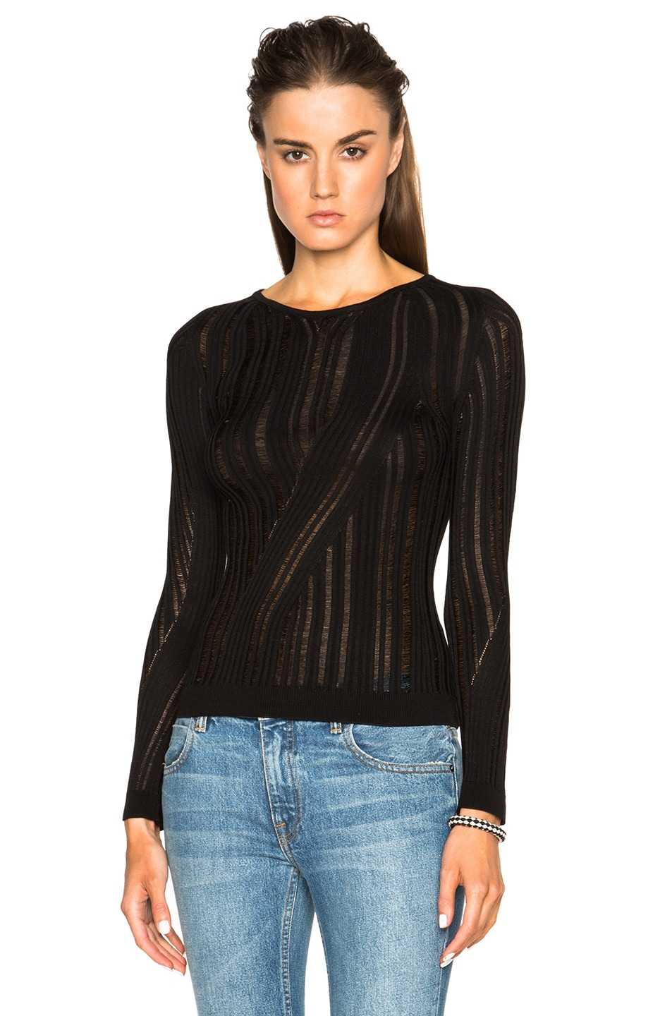 Image 1 of Acne Studios Marcy Mouline Sweater in Black