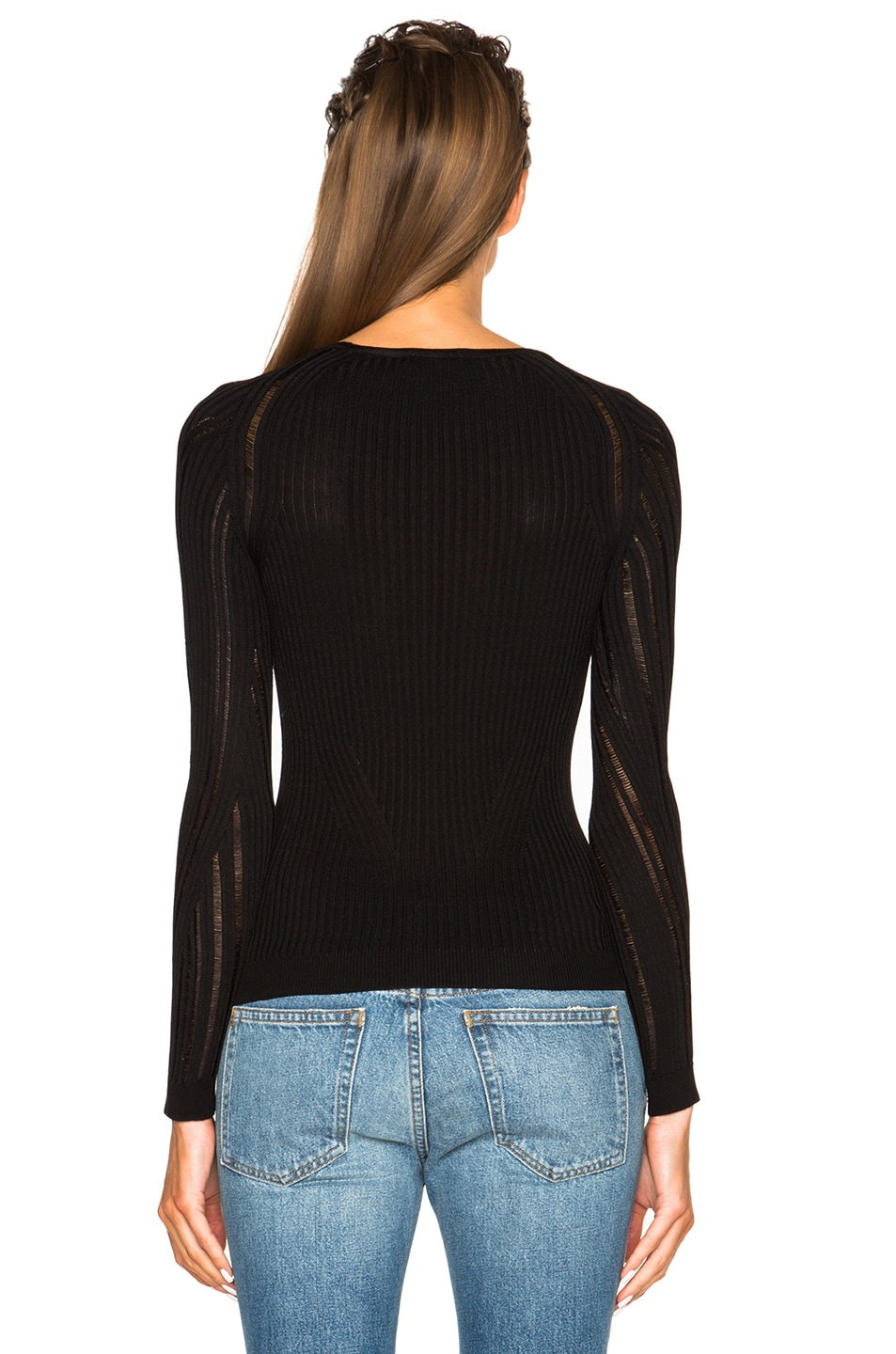 Image 4 of Acne Studios Marcy Mouline Sweater in Black