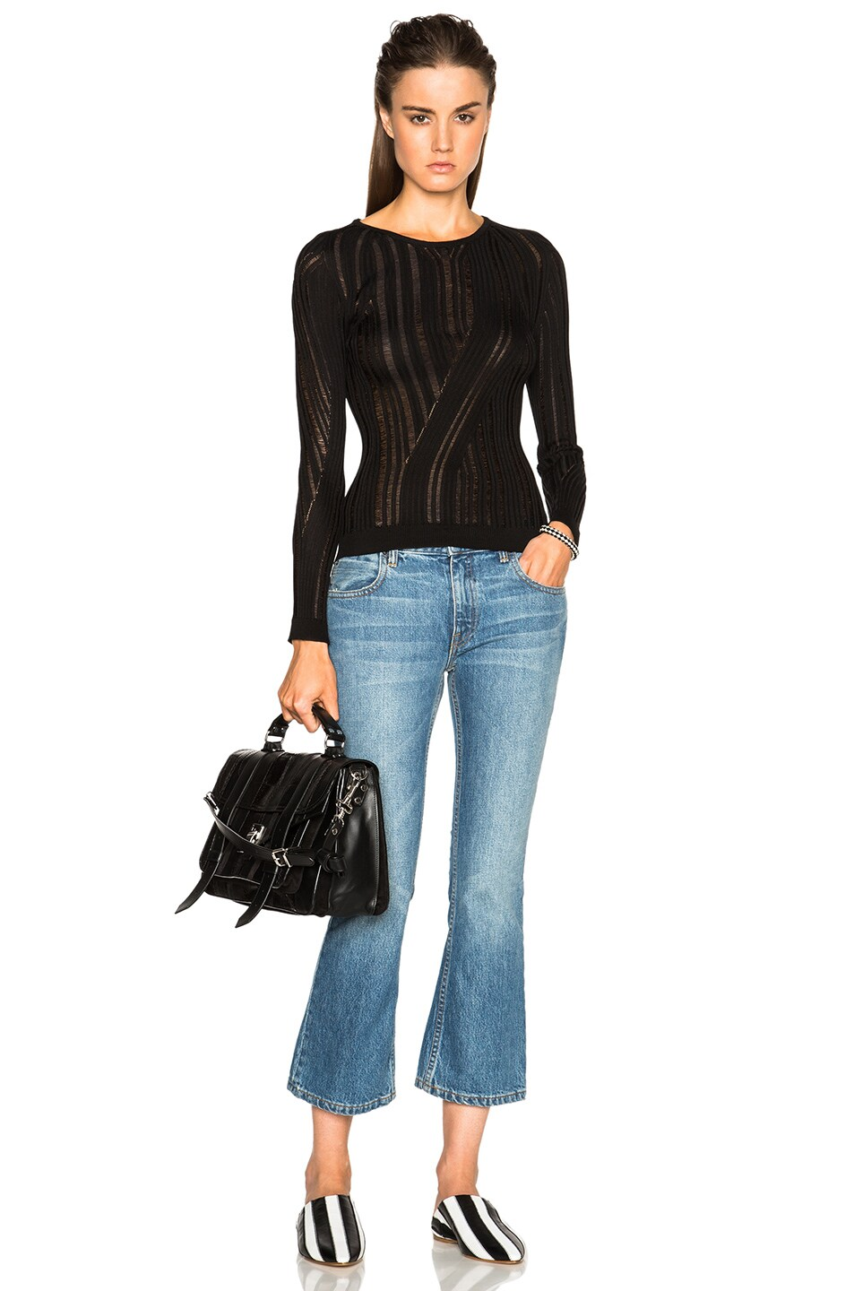 Image 5 of Acne Studios Marcy Mouline Sweater in Black