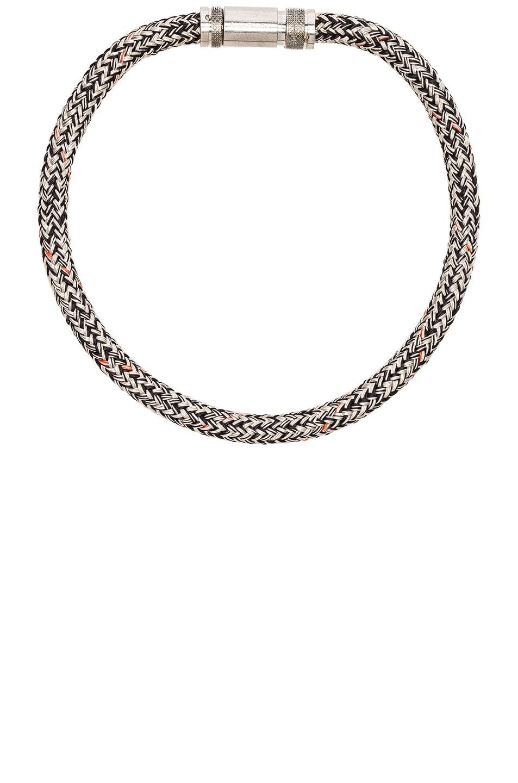 Image 1 of Acne Studios Rope Jack Choker Necklace in Beige & Black