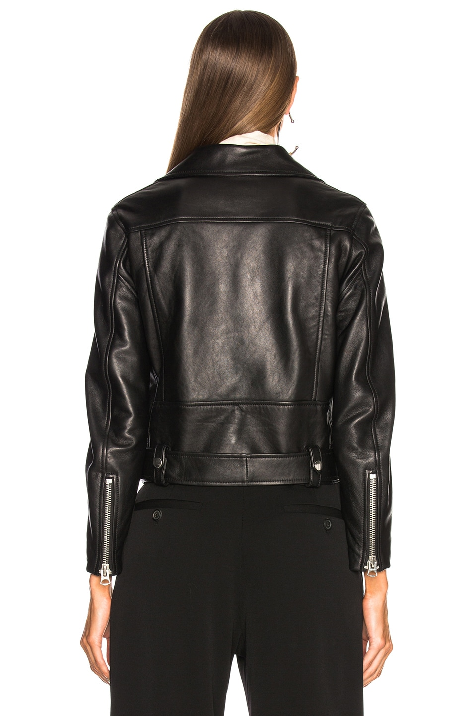 Image 4 of Acne Studios Mock Leather Jacket in Black