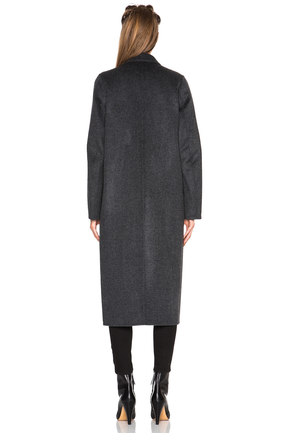 Image 5 of Acne Studios Foin Double Wool Coat in Dark Grey