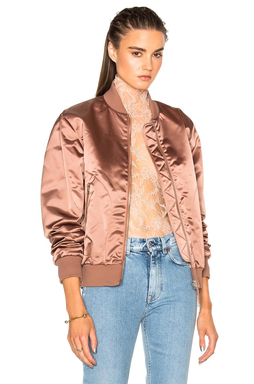Image 1 of Acne Studios Azura Bomber Jacket in Pink