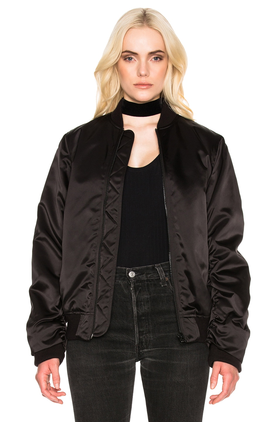 Acne bomber jacket black