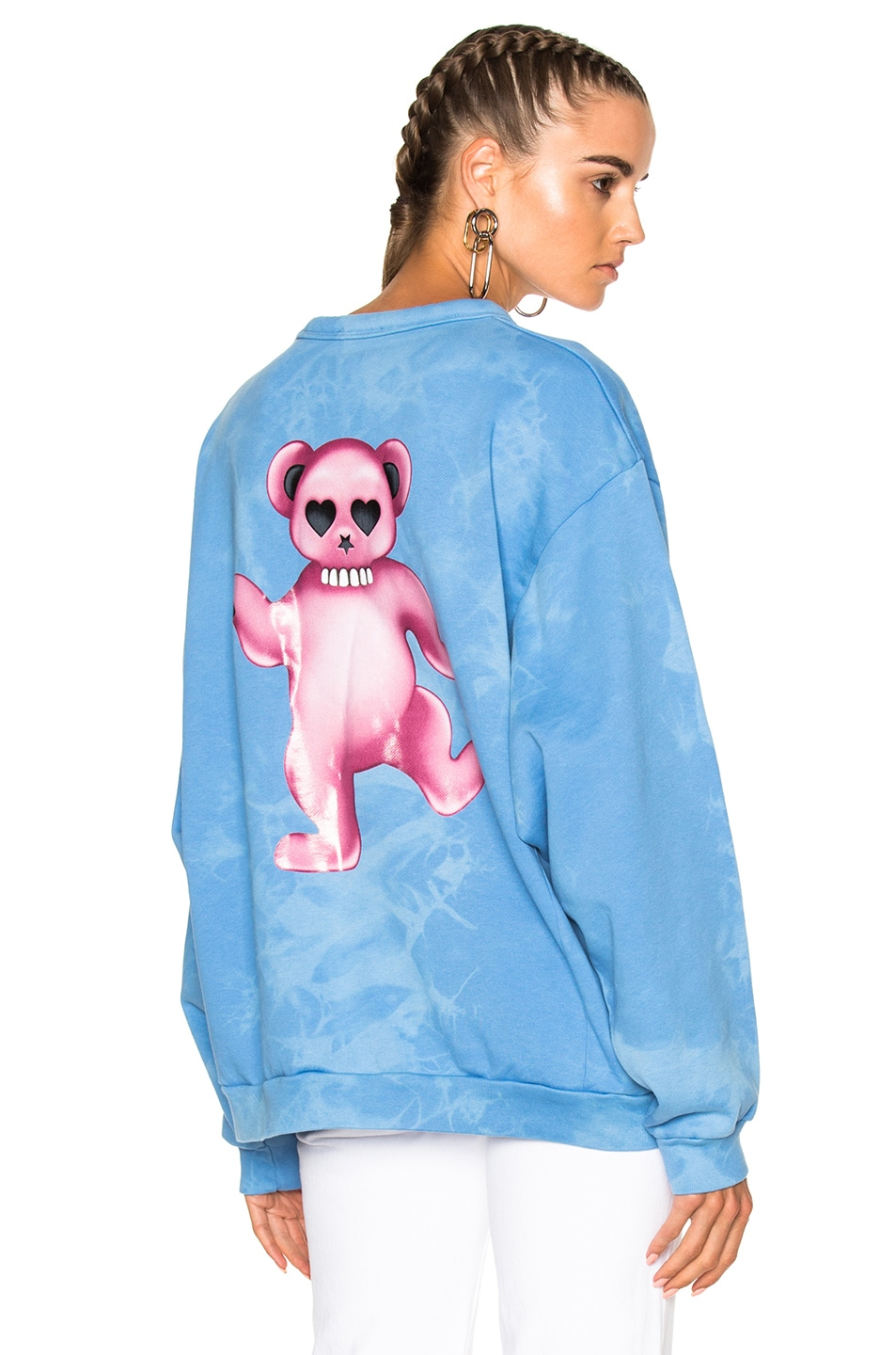 Image 1 of Acne Studios Fint Bear Sweater in Sky Bleach