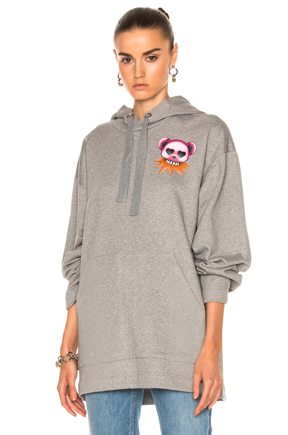 Image 1 of Acne Studios Florida Bear Fleece Sweater in Zinc Gray Melange