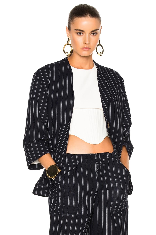 Image 1 of Acne Studios Jada Suit Jacket in Navy