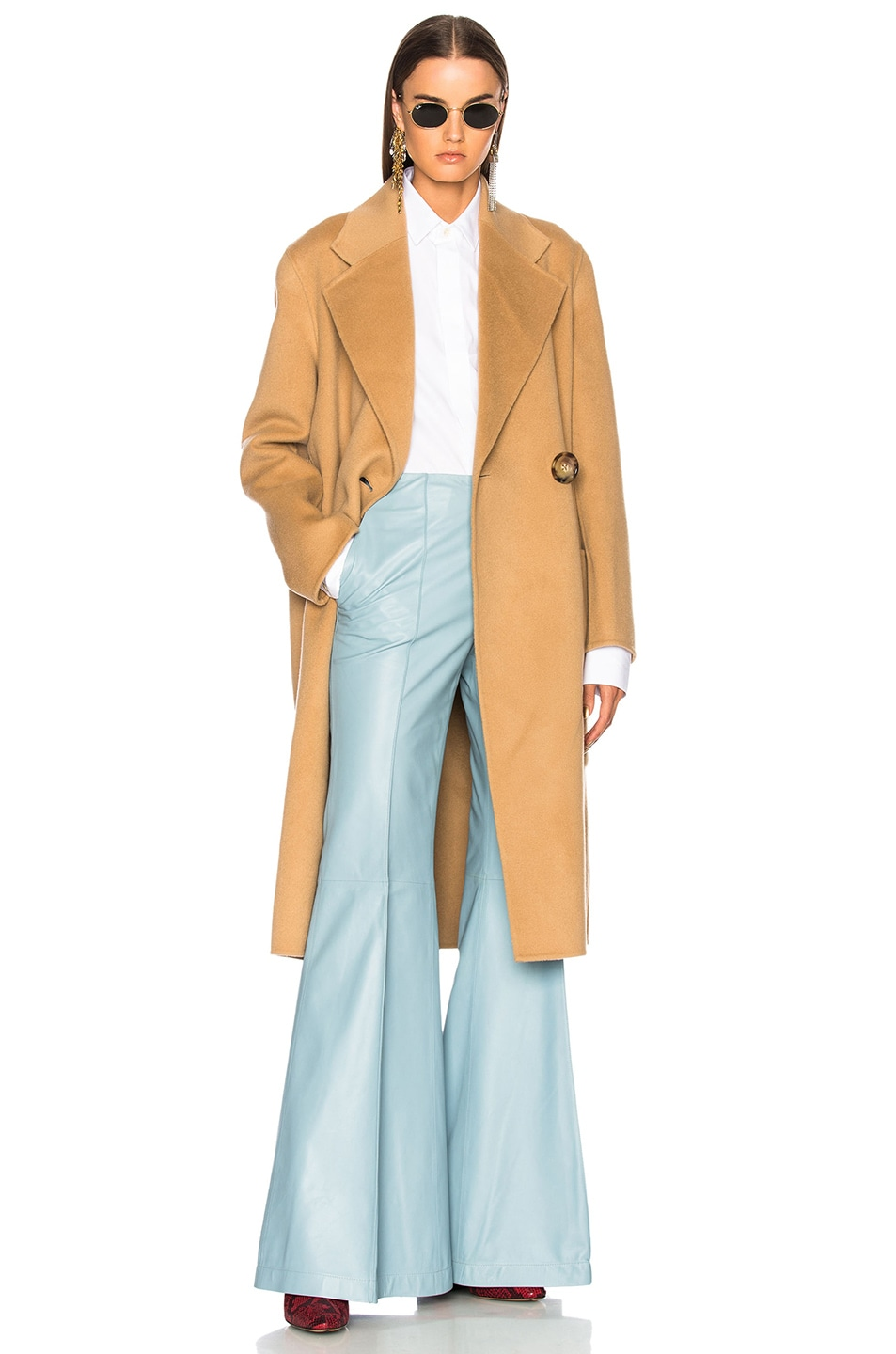 0913d20a6ea8 Image 1 of Acne Studios Carice Double Coat in Camel