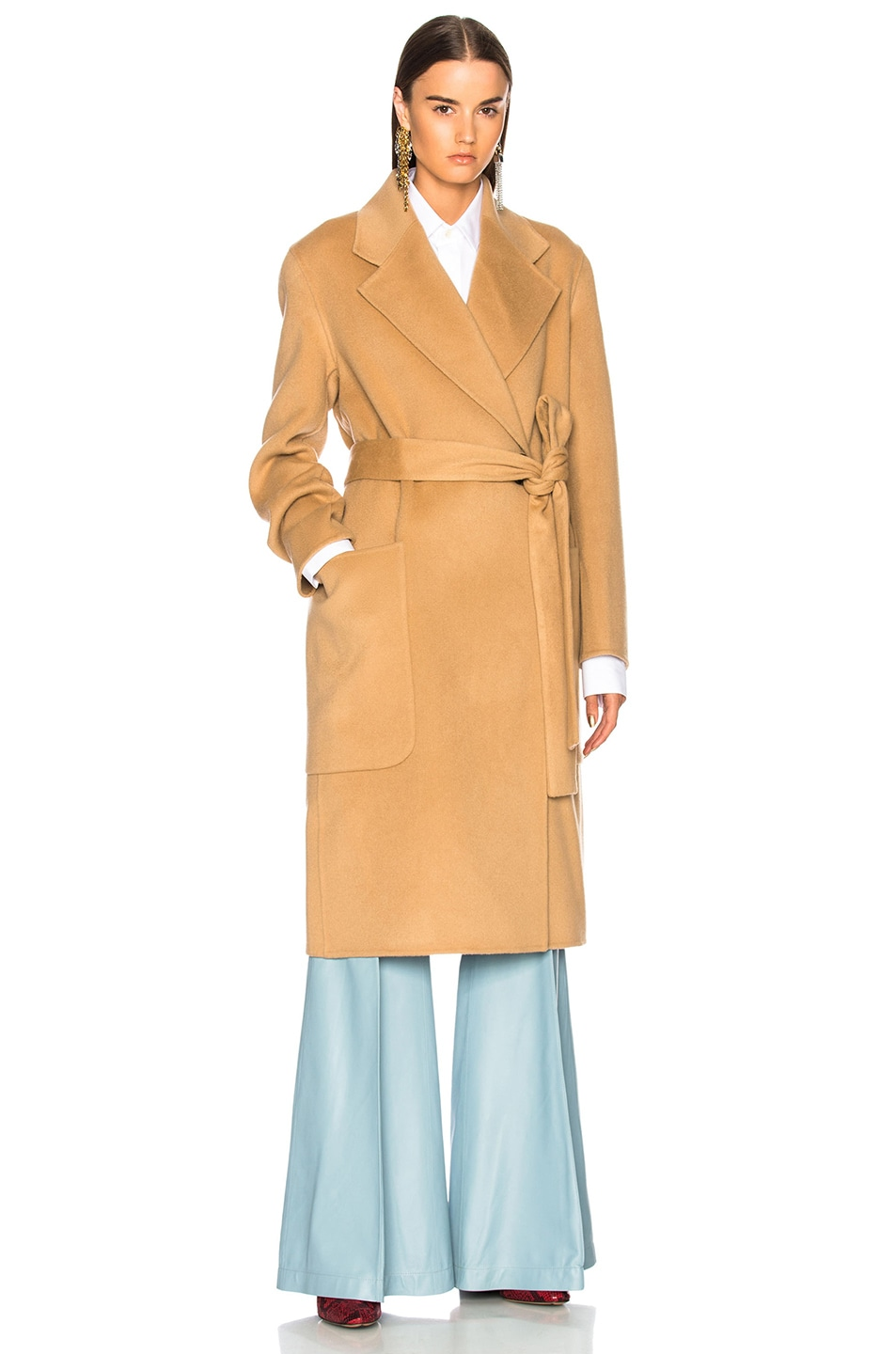Image 2 of Acne Studios Carice Double Coat in Camel