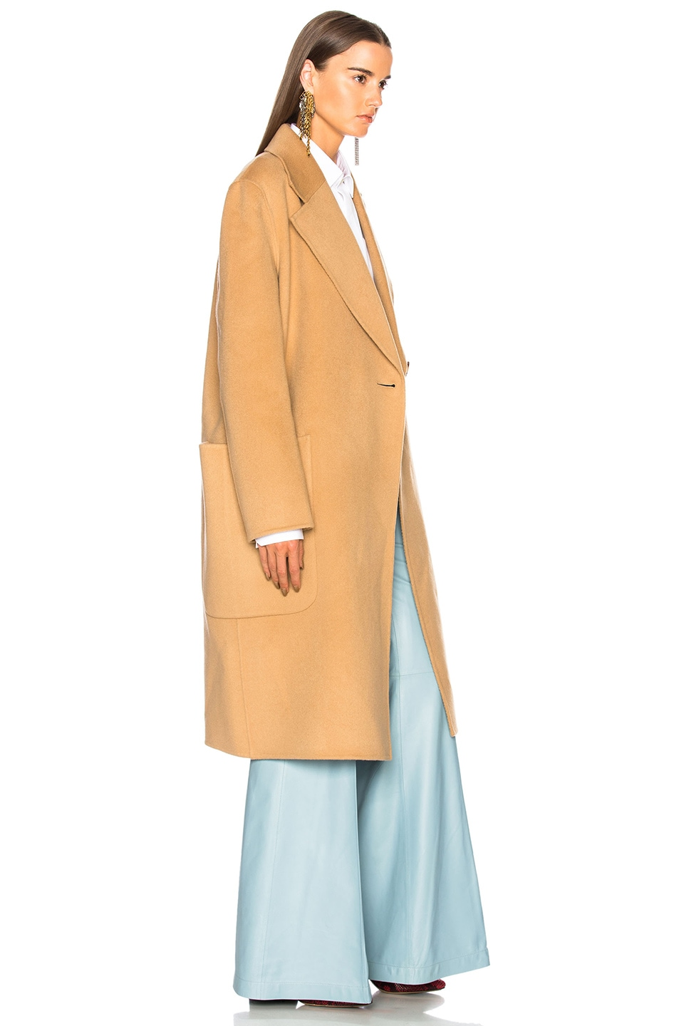 Image 3 of Acne Studios Carice Double Coat in Camel