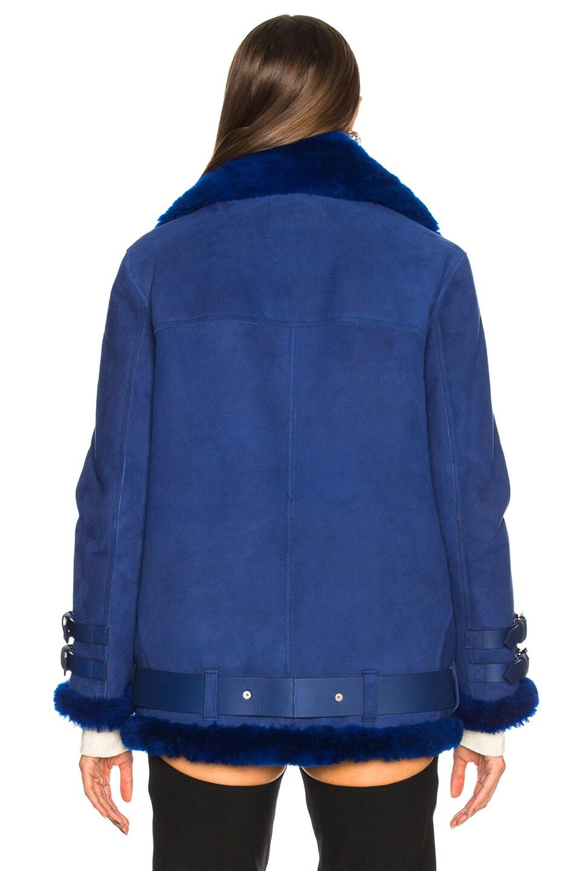 Image 4 of Acne Studios Velocite Suede Jacket in Ultramarine Blue & Ultramarine