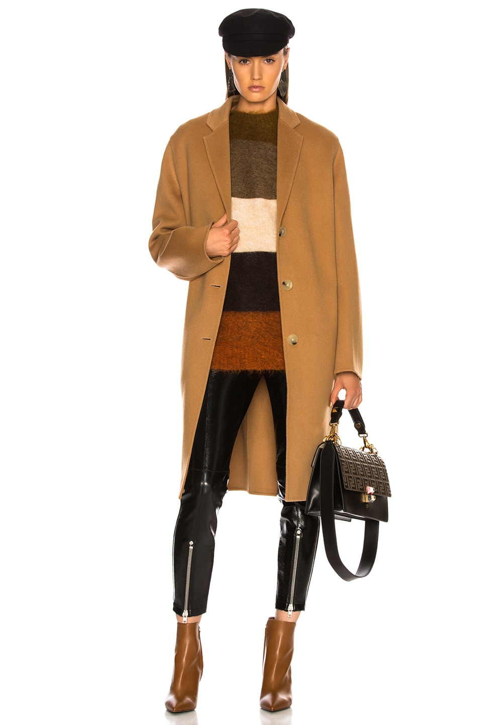 a685407350ac Image 1 of Acne Studios Avalon Double Coat in Camel Brown