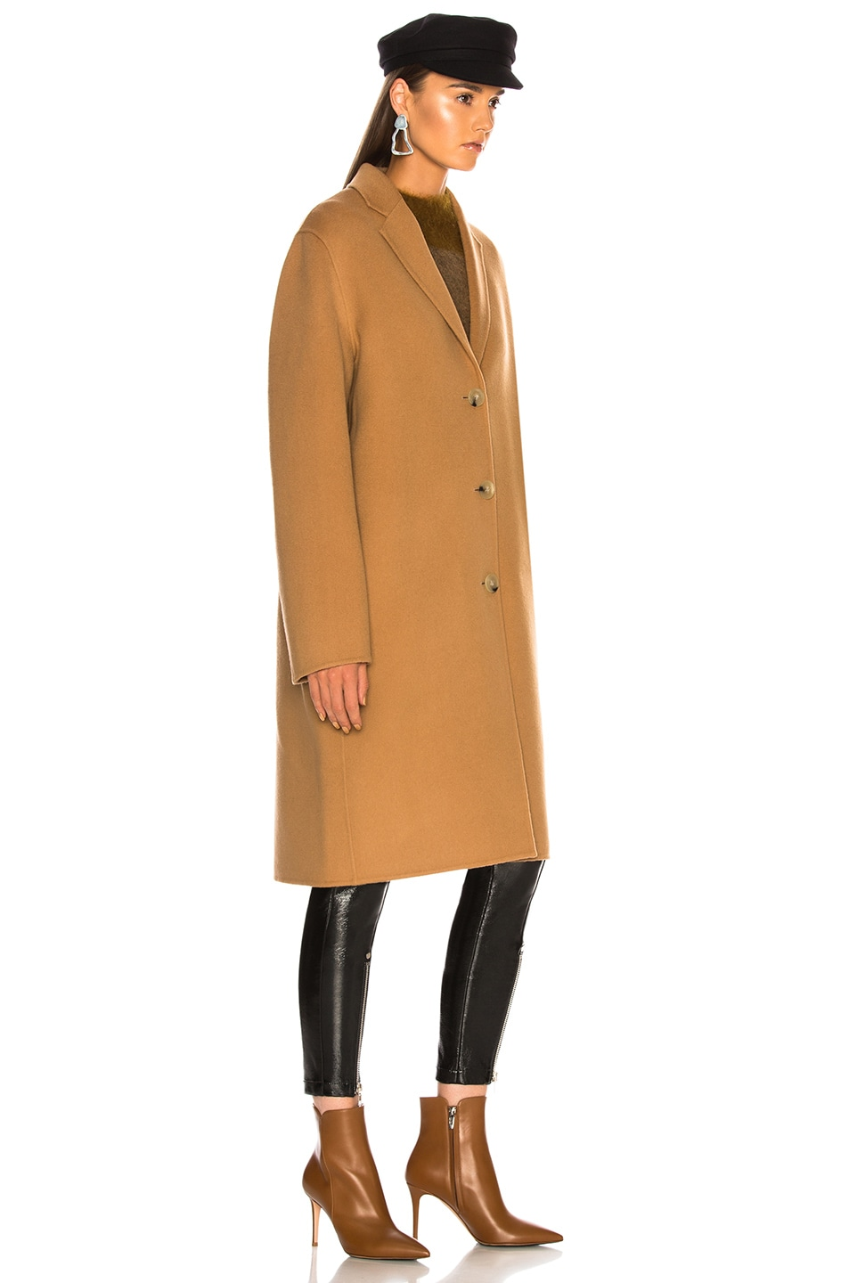 Image 4 of Acne Studios Avalon Double Coat in Camel Brown