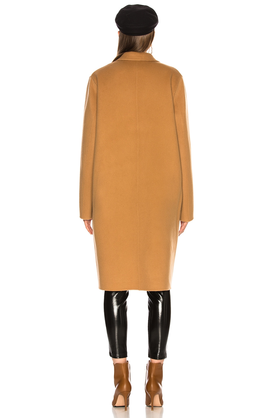 Image 5 of Acne Studios Avalon Double Coat in Camel Brown
