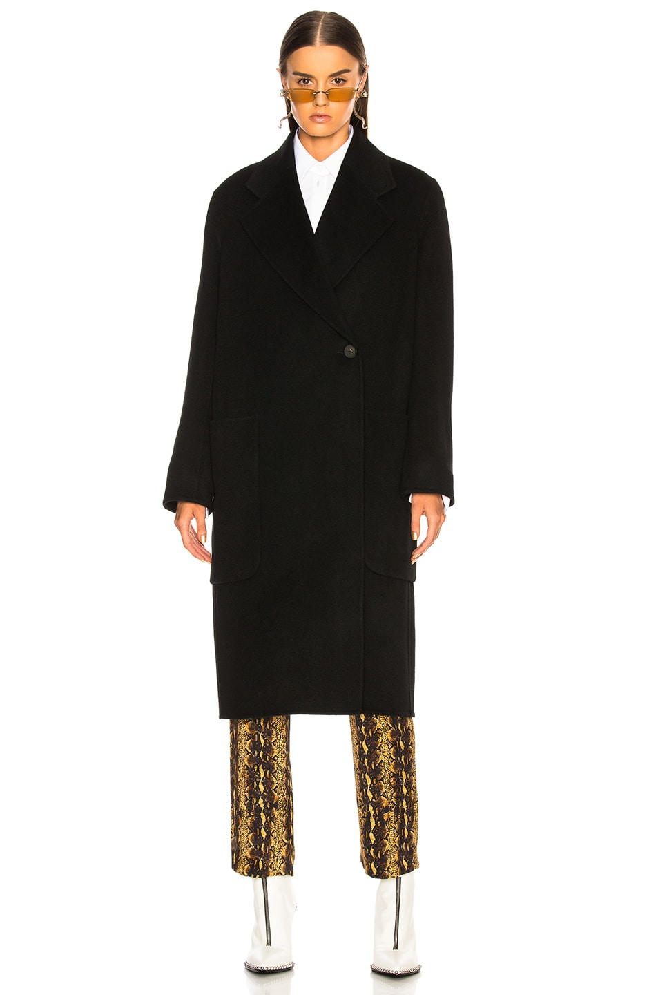 Image 2 of Acne Studios Carice Double Coat in Black