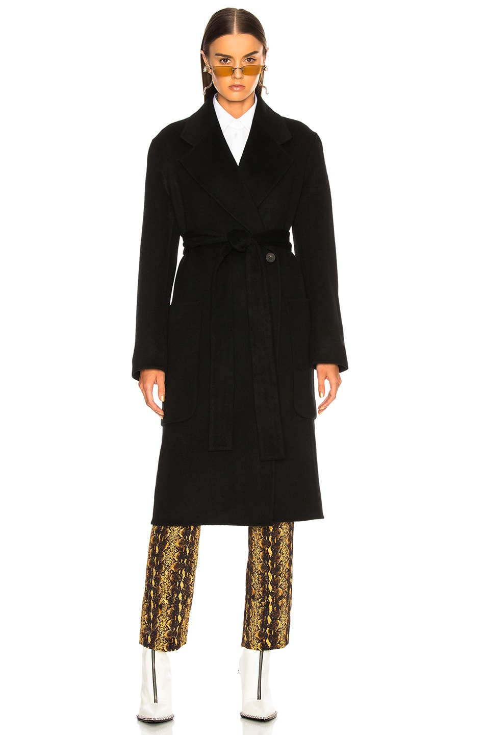 Image 3 of Acne Studios Carice Double Coat in Black