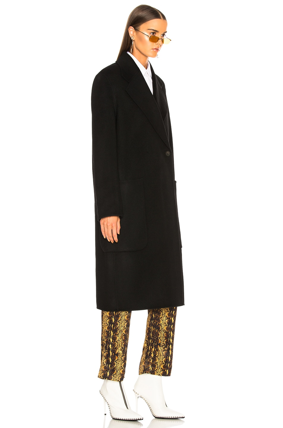 Image 4 of Acne Studios Carice Double Coat in Black