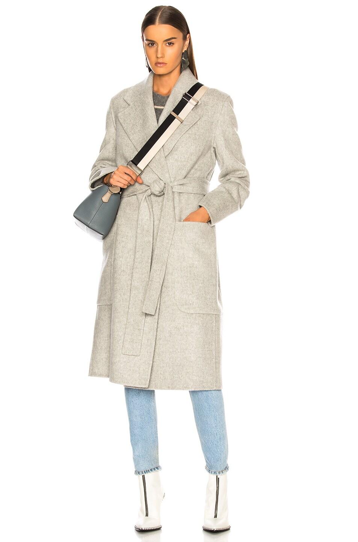 Image 1 of Acne Studios Carice Double Coat in Grey Melange