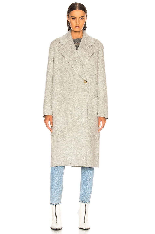 Image 3 of Acne Studios Carice Double Coat in Grey Melange