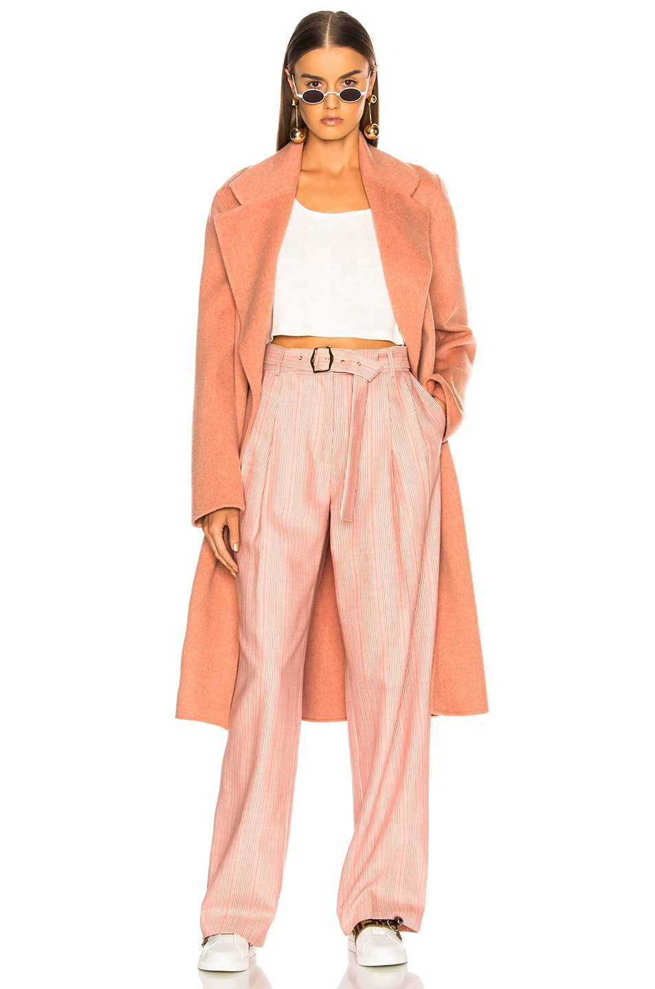 Image 1 of Acne Studios Carice Double Coat in Old Pink Melange