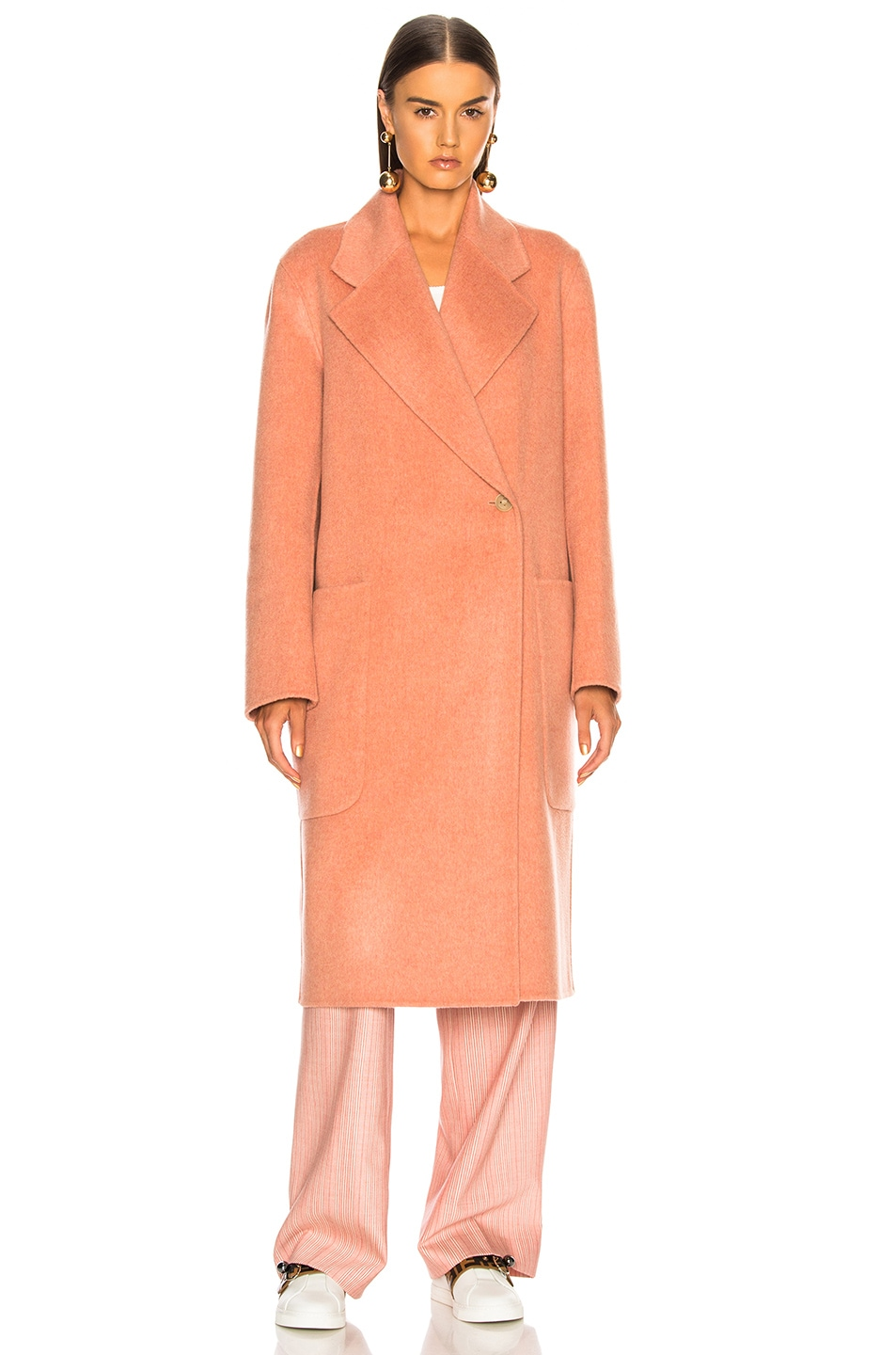 Image 3 of Acne Studios Carice Double Coat in Old Pink Melange