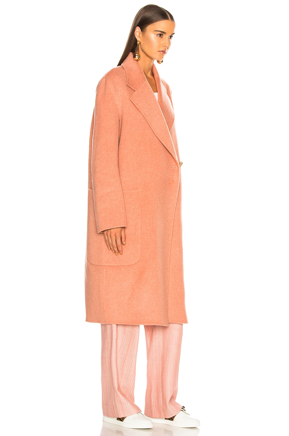 Image 4 of Acne Studios Carice Double Coat in Old Pink Melange