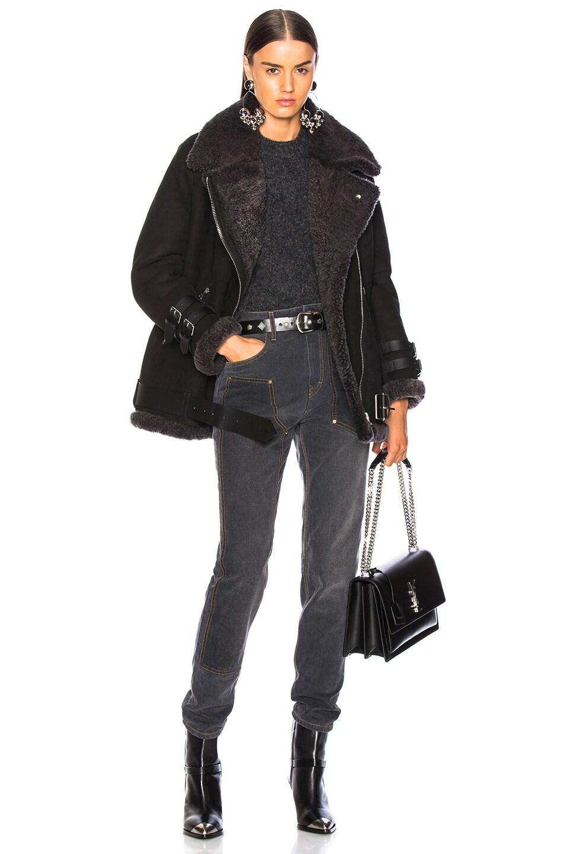 Image 6 of Acne Studios Velocite Suede Jacket in Black & Dark Grey