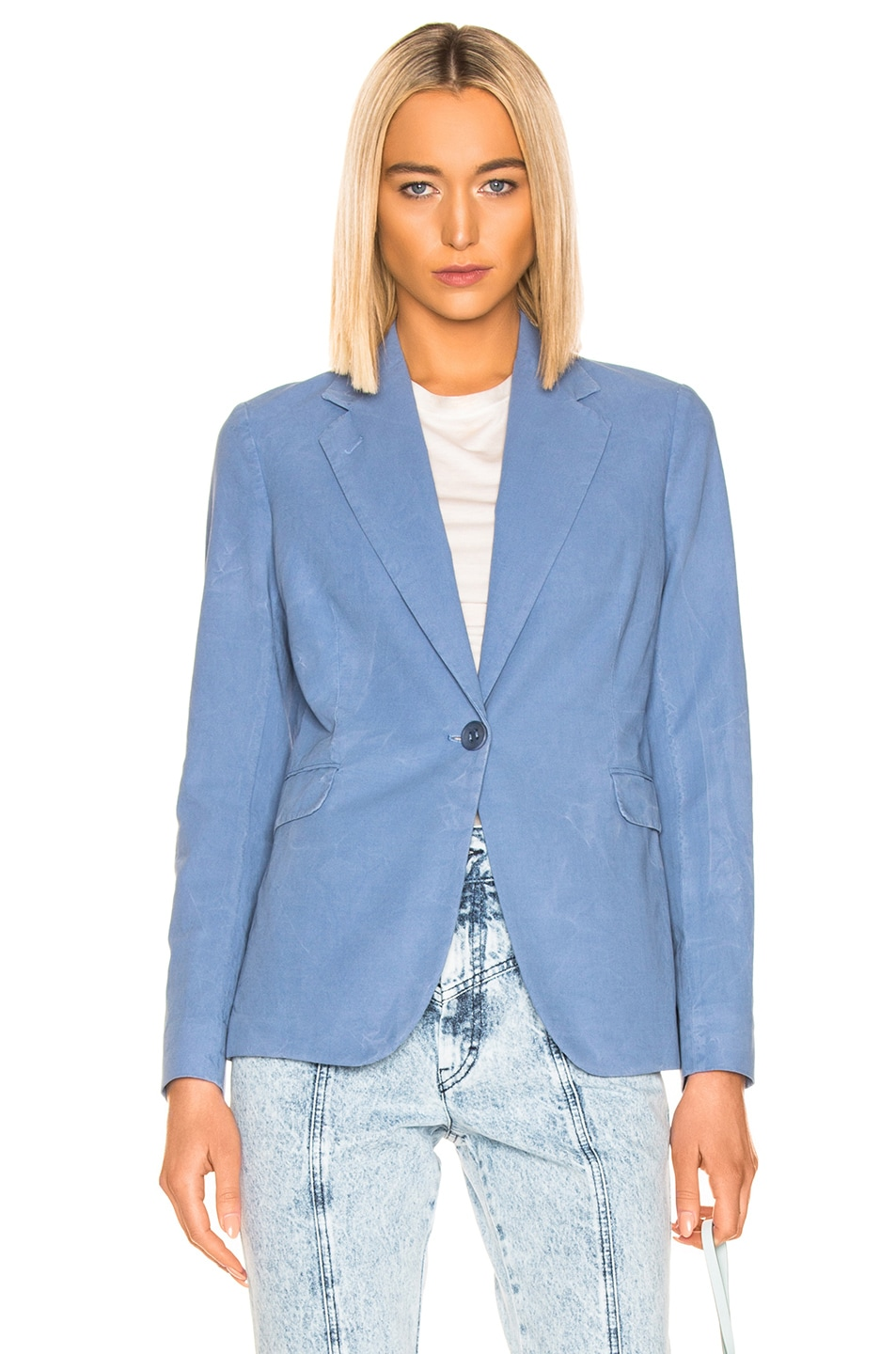 Image 1 of Acne Studios Janice Suit Jacket in Mineral Blue