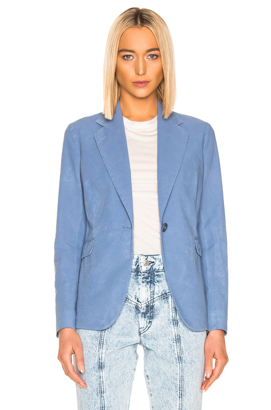 Image 2 of Acne Studios Janice Suit Jacket in Mineral Blue
