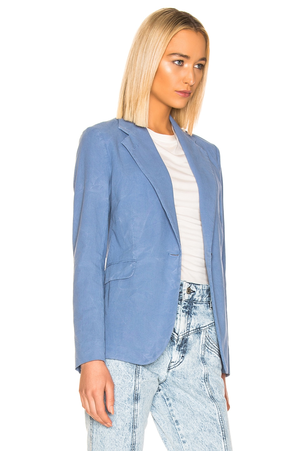 Image 3 of Acne Studios Janice Suit Jacket in Mineral Blue