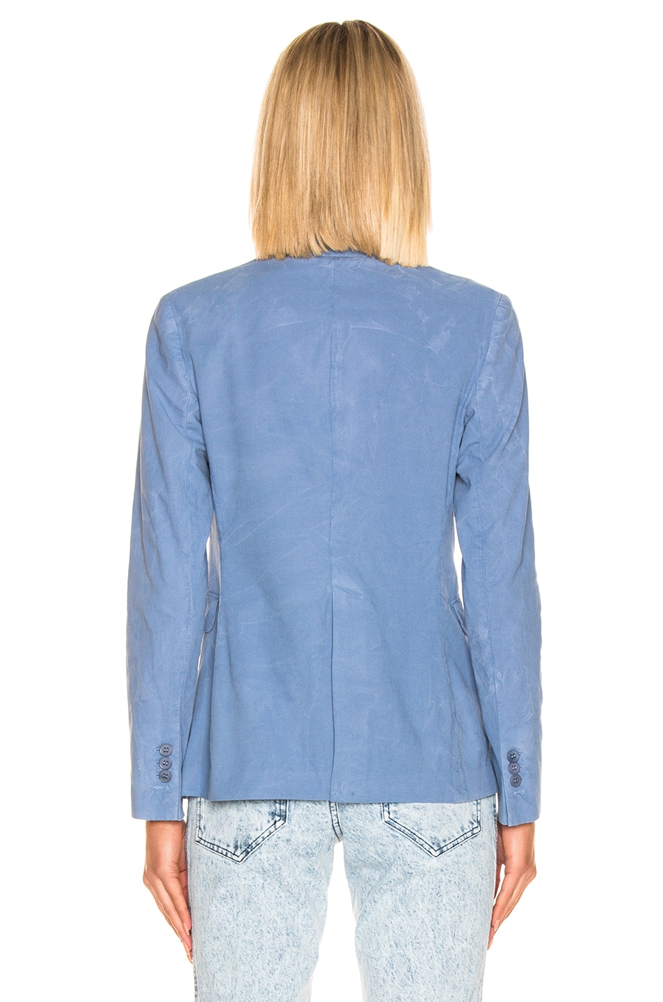 Image 4 of Acne Studios Janice Suit Jacket in Mineral Blue