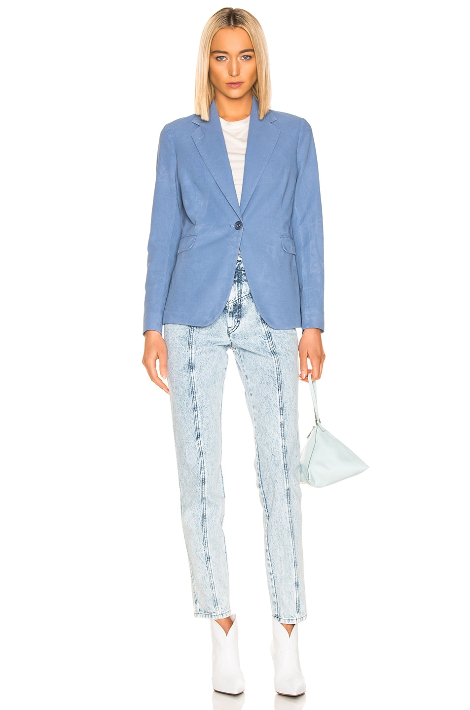 Image 5 of Acne Studios Janice Suit Jacket in Mineral Blue